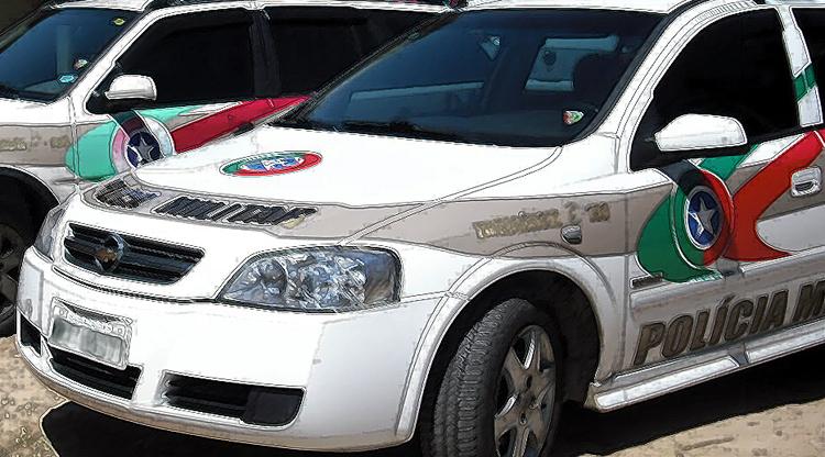 carros Polícia Militar ilustrado