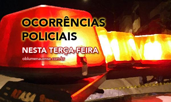 ocorrêcias policiais terça-feira