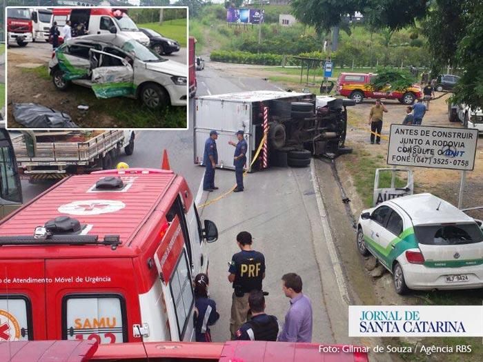 acidente-BR-470-trevo-blumenau-pomerode