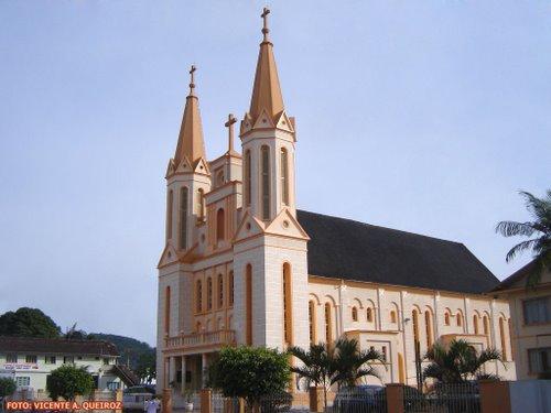 Igreja Imaculada Conceição em Jacu-Açu -  Guaramirim/SC Foto: Vicente A. Queiroz