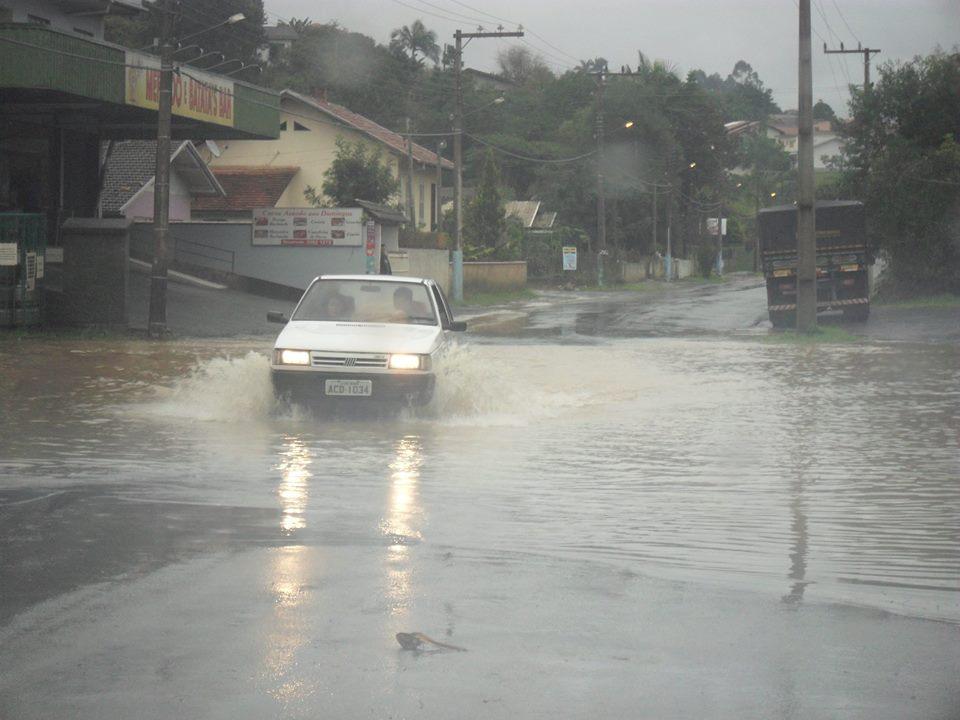Município de Taió, nesta tarde de sexta-feira | Foto: Defesa Civil de Taió