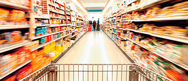 prateleiras de supermercado