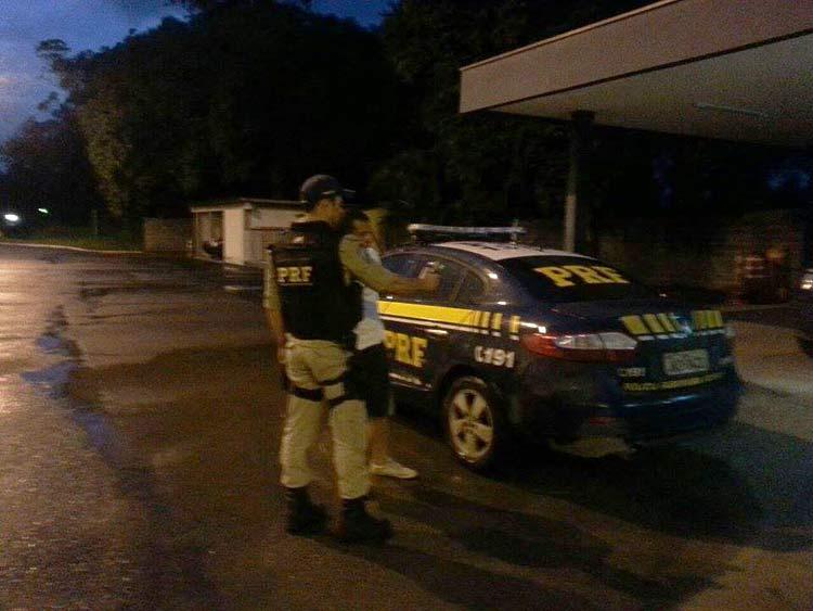 Fiscalização em posto da PRF em Rio do Sul
