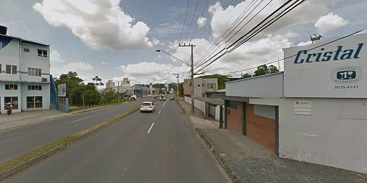 Local aproximado do atropelamento do idoso | Google Maps Jan 2014