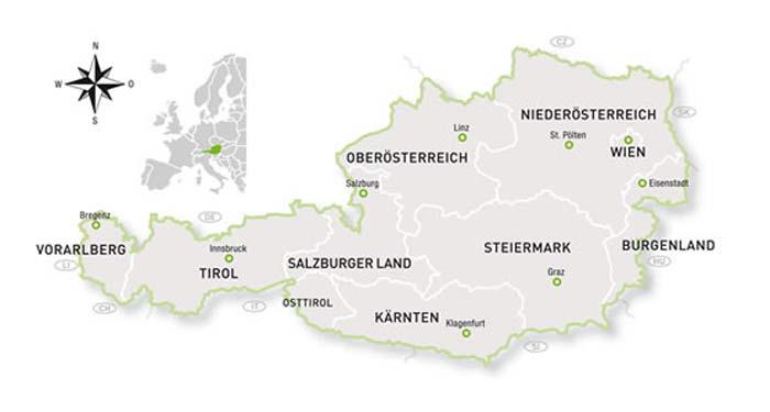 Austria-mapa