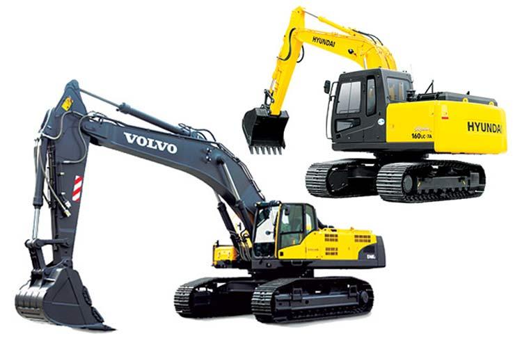 Escavadeira-Volvo-210_Hyundai-160