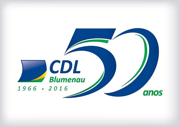 CDL_Blumenau_50anos_logo