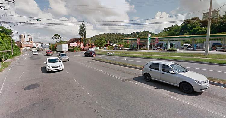 Rua das Missões, onde a guarda de trânsito identificou o local do acidente | Imagem: Google Maps (Street View) Janeiro 2014
