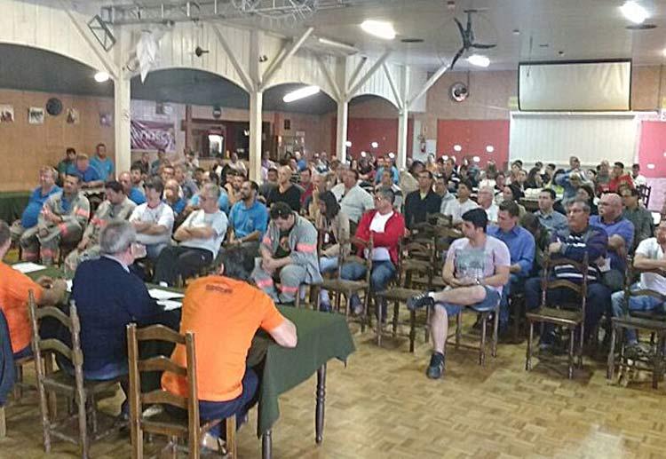 Assembleia nesta quarta-feira (5) em Blumenau | Foto: Sintevi/Divulgação