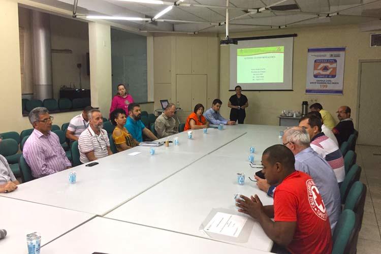 Marilene de Lima, meteorologista da Epagri Ciram apresentou a previsão para a Comissão Municipal de Defesa Civil de Joinville na quarta-feira (9/11/16).