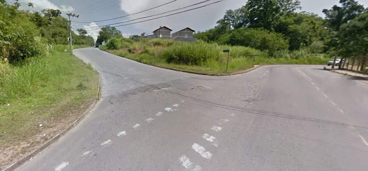 Entroncamento das Ruas Guilherme Poerner e Adela Jansen   Imagem: Google Maps (Street View) Jan 2014