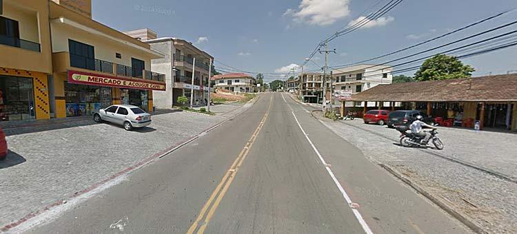 Rua Guilherme Poerner, bairro Passo Manso | Imagem: Google Maps (Street View) Janeiro 2014