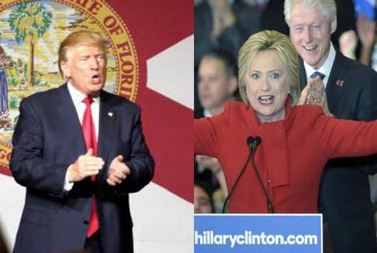 Donald Trump e Hillary Clinton | Foto: Agência Lusa